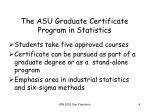 the asu graduate certificate program in statistics