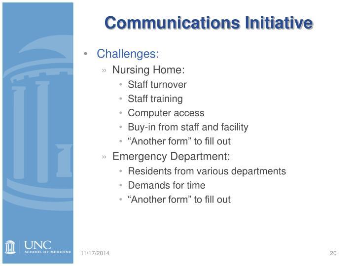 Communications Initiative