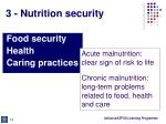 3 nutrition security