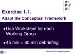 exercise 1 1 adapt the conceptual framework