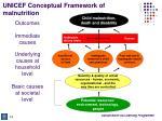 unicef conceptual framework of malnutrition