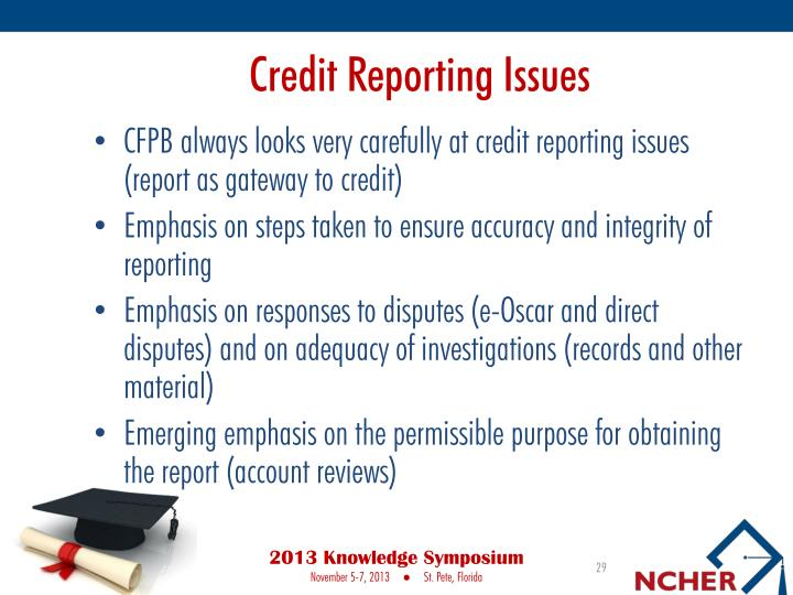 Credit Reporting Issues