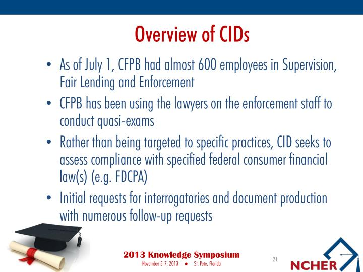 Overview of CIDs