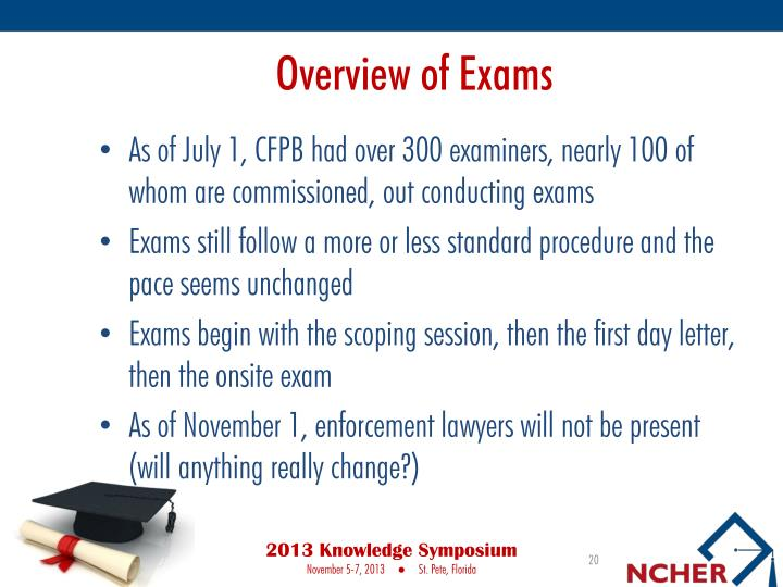Overview of Exams