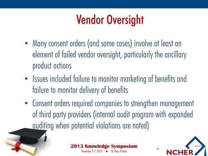 Vendor Oversight