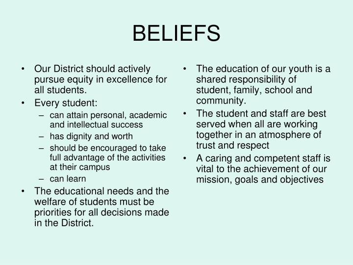 Our District should actively pursue equity in excellence for all students.