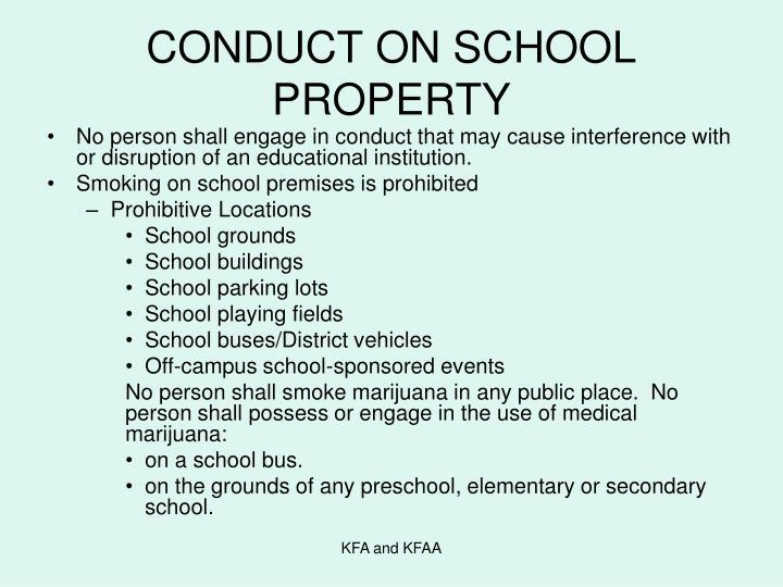 CONDUCT ON SCHOOL PROPERTY