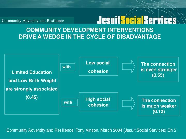 COMMUNITY DEVELOPMENT INTERVENTIONS