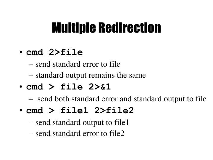 Multiple Redirection