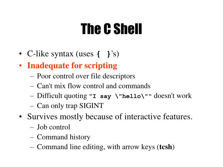 The C Shell