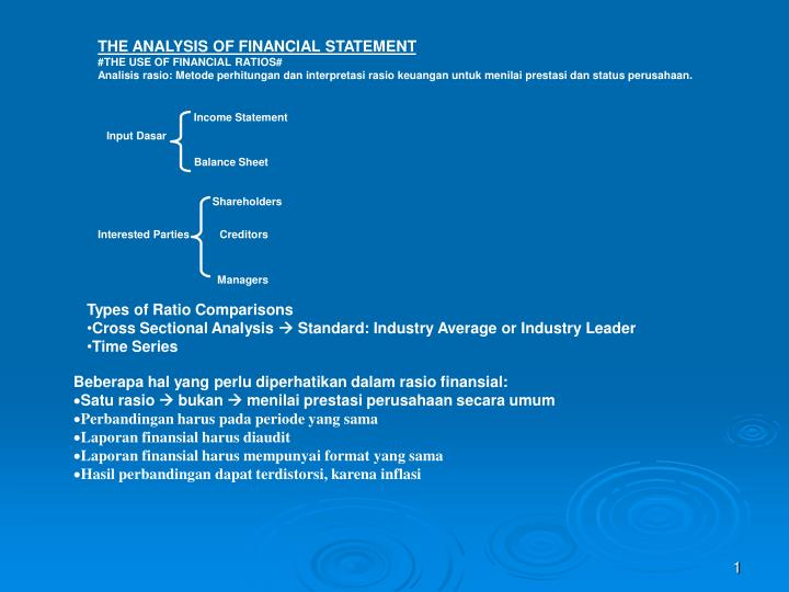 THE ANALYSIS OF FINANCIAL STATEMENT