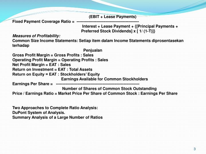 (EBIT + Lease Payments)