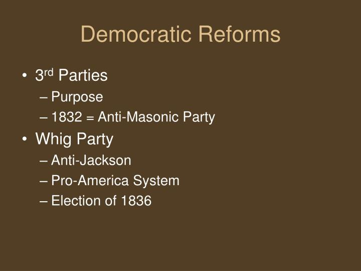 Democratic Reforms