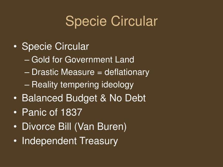 Specie Circular