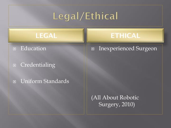 Legal/Ethical