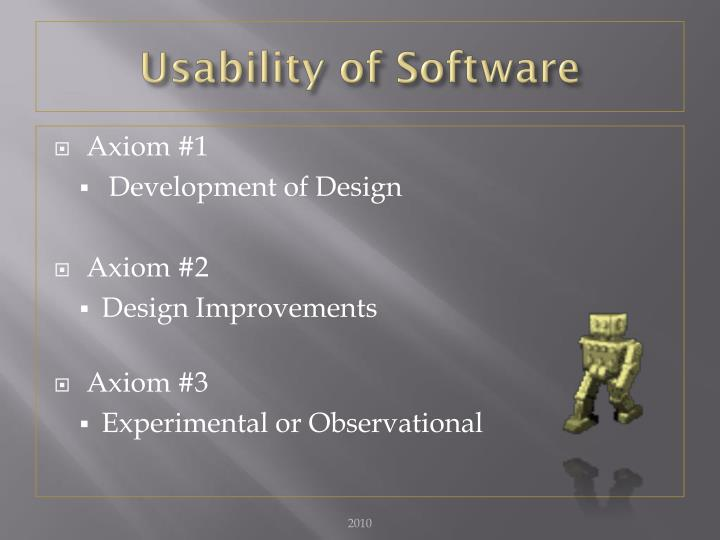 Usability of Software