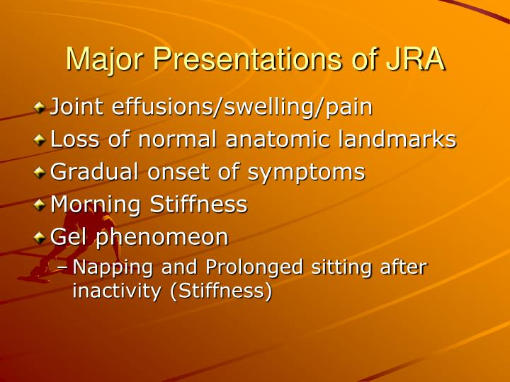 Major Presentations of JRA
