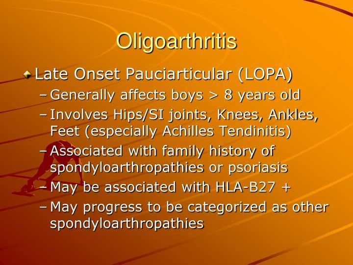 Oligoarthritis