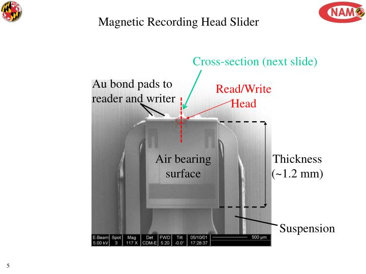Magnetic Recording Head Slider