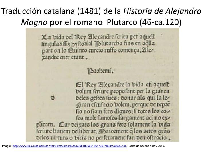 Traducción catalana (1481) de la