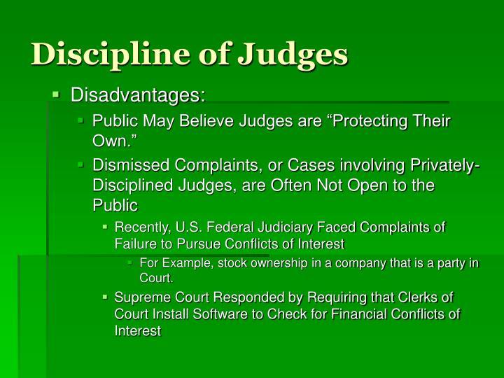 Discipline of Judges
