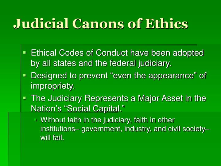 Judicial Canons of Ethics