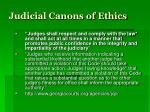 judicial canons of ethics1