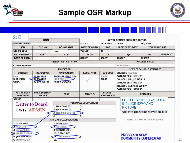 Sample OSR Markup