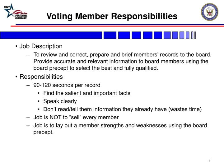Voting Member Responsibilities