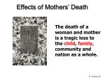 effects of mothers death