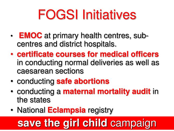 FOGSI Initiatives