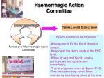 haemorrhagic action committee