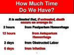 how much time do we have