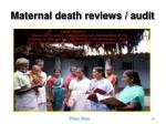 maternal death reviews audit
