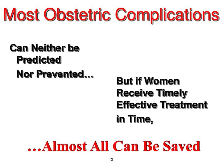 Most Obstetric Complications