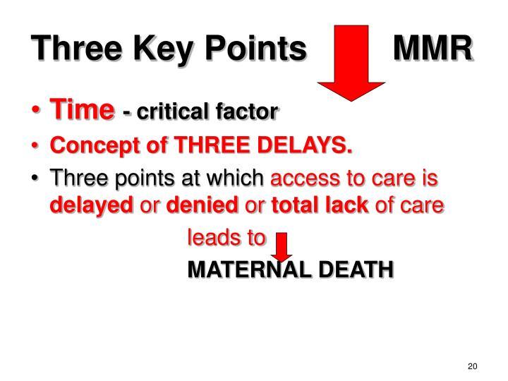 Three Key Points         MMR