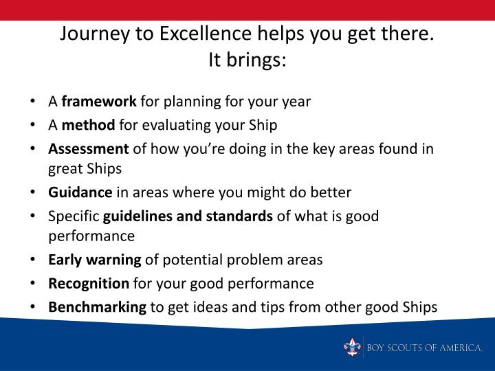 Journey to Excellence helps you get there.