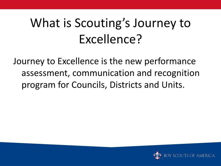 What is Scouting's Journey to Excellence?