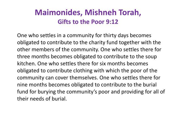 Maimonides, Mishneh Torah,