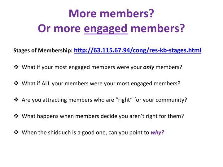 More members?