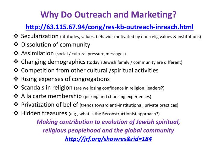 Why Do Outreach and Marketing?