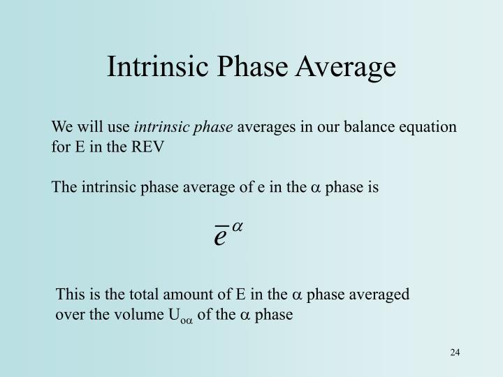 Intrinsic Phase Average