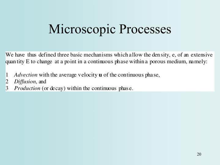 Microscopic Processes