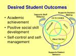 desired student outcomes