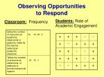 observing opportunities to respond1