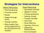 strategies for interventions
