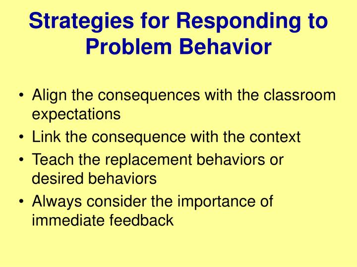 Strategies for Responding to