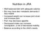 nutrition in jra