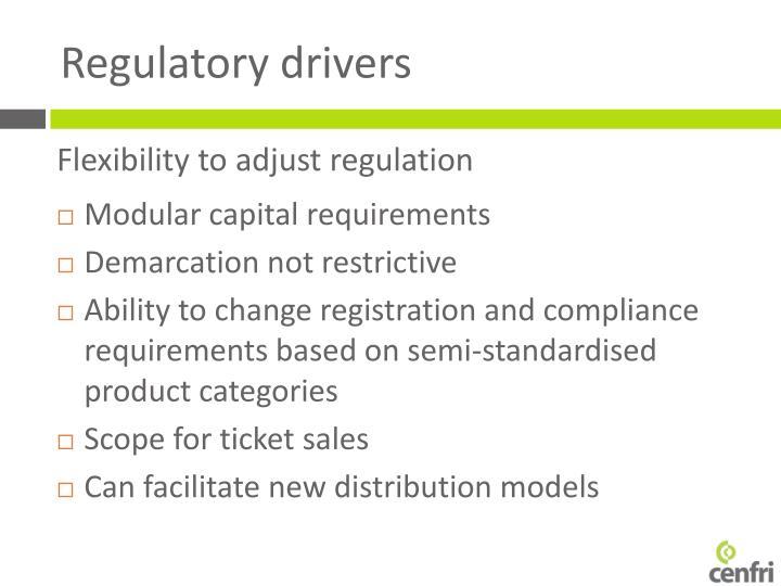 Flexibility to adjust regulation