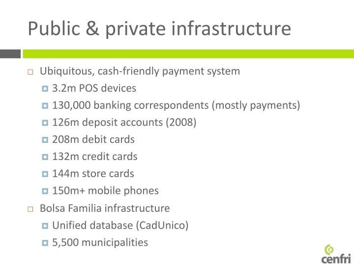 Public & private infrastructure